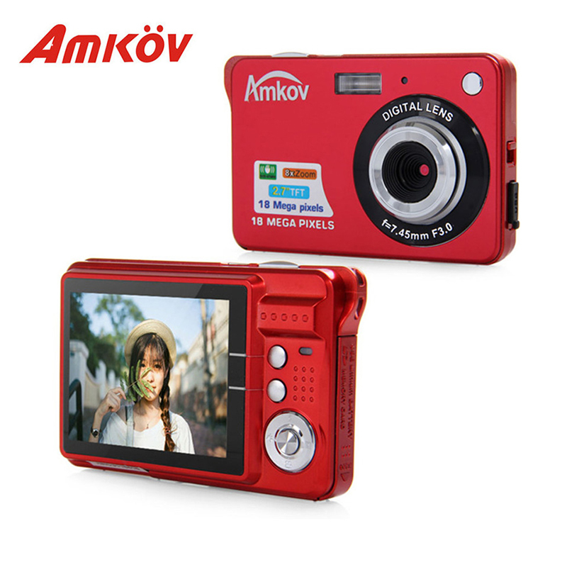 Original Amkov AMK CDC3 Professional Cameras 2 7 TFT Screen 8 Megapixel Mini Portable HD Shooting