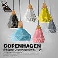 Скандинавский современный деревянный железный подвесной светильник Американский промышленный Железный ресторанный подвесной светильник...