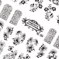 Candy Lover 1 piece 3D Black Nail Art Stickers Manicure Decals Stamping French Nails Tips DIY Nail Art DIY Decoration Tools