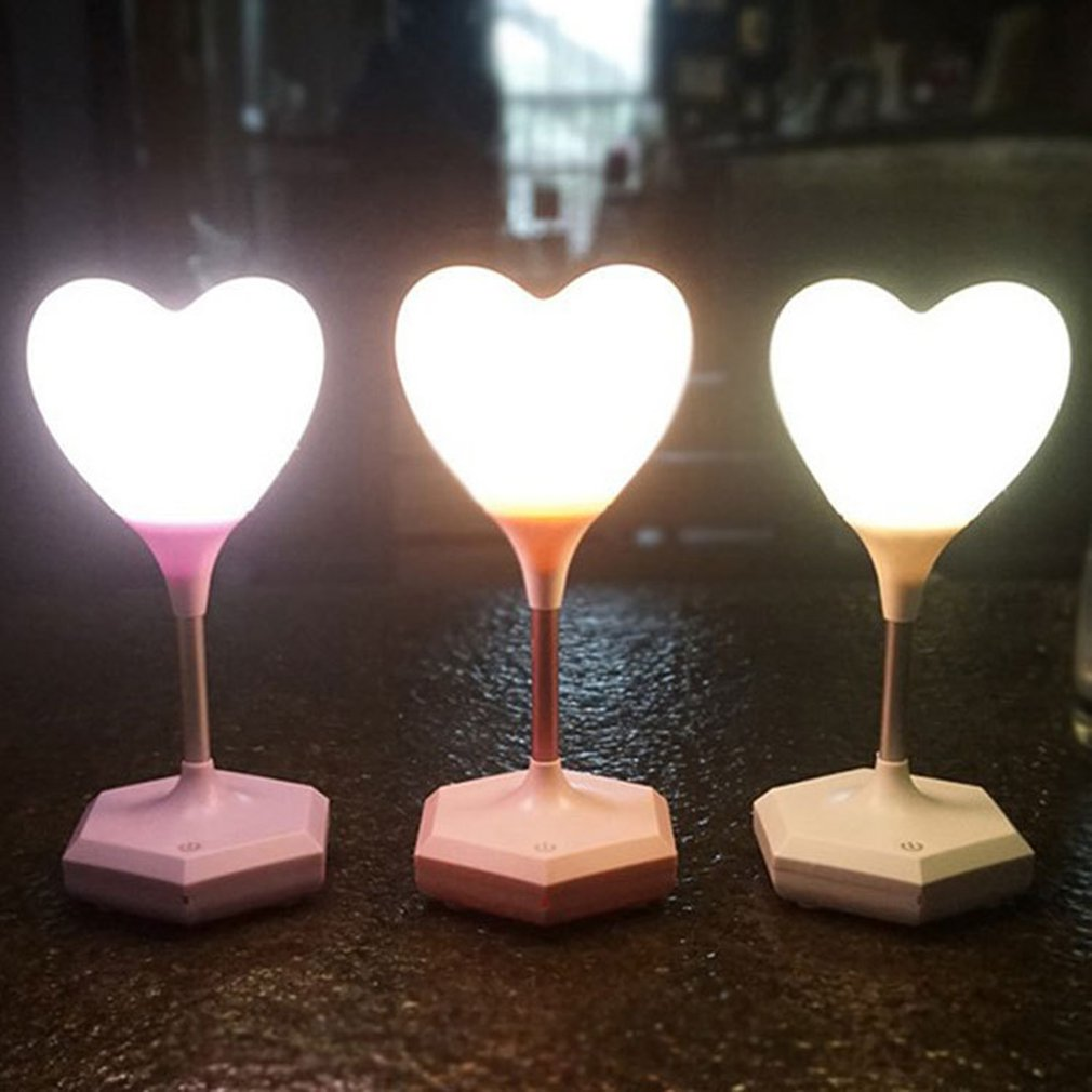 Creative Love Night Light Lamp Night Light Environment USB Charge Sensor Light Touch Me Party Room Decor Gift