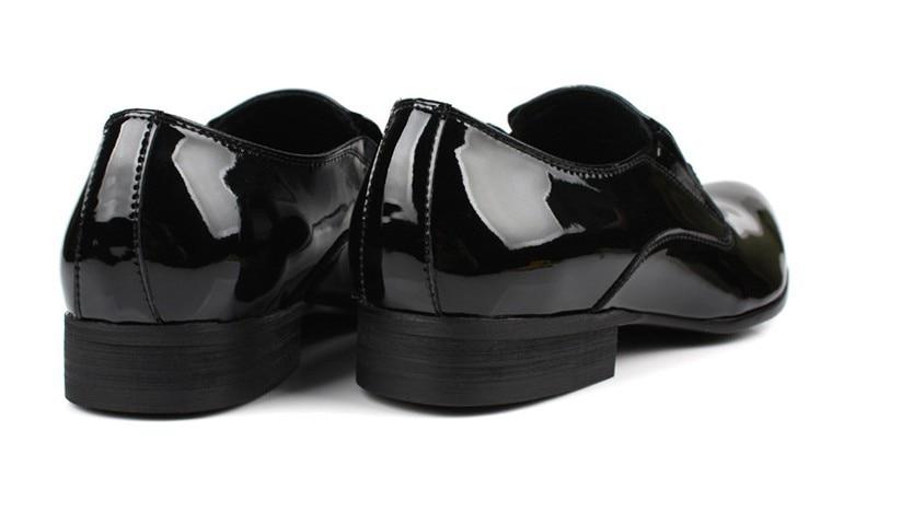 Suur suurus EUR45 Must mens kleit kingad mees äri kingad nahast - Meeste jalatsid - Foto 4