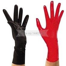 Новое поступление Топ Мода латексные перчатки сексуальное женское белье платье Резиновые наручные перчатки Женщины zentai Фетиш Литые перчатки горячая распродажа