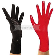 2016 New Arrive Top Fashion Latex Gloves Sexy Lingerie Dress Rubber Wrist Gloves Women Zentai Fetish Short Hot Sale hot sale 2016 new arrive big eyes cartoon 100