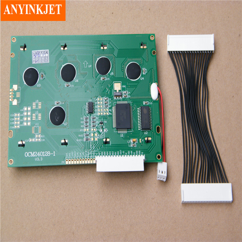 lcd display 37727 for domino a100 a200 a300 printer green type lcd rh aliexpress com domino a100 printer manual domino a100 inkjet printer manual