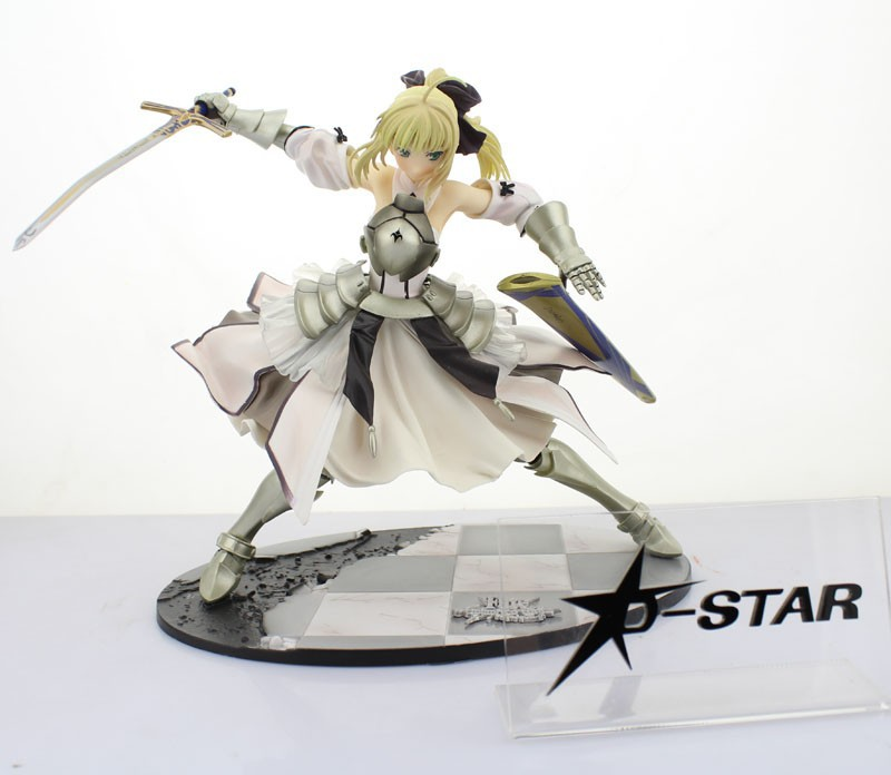 EMS Shipping 3pcs Cool 9 Fate Stay Night Unlimited Codes Saber Lily 1/7 Scale 22cm Boxed PVC Action Figure Collection Model Toy fate stay night fate extra saber lily 1 7 scale pvc figure collectible model toy 9 23cm fnfg029