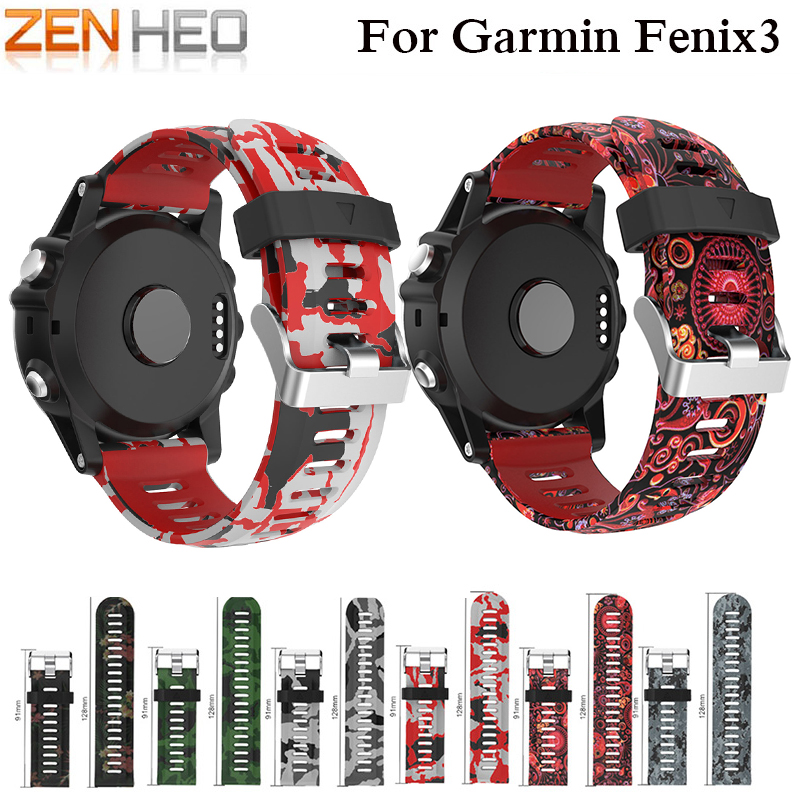 ZENHEO Watch-Strap Garmin Fenix Wrist Sport Silicone for 3-strap-band/Outdoor/Sport/..