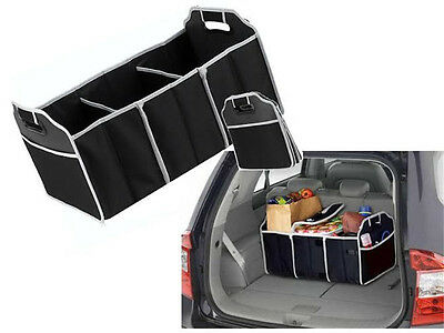 Image 4 - NEW Collapsible Foldable Car Boot Organiser Shopping Car Storage Organizer Bag-in Storage Boxes & Bins from Home & Garden