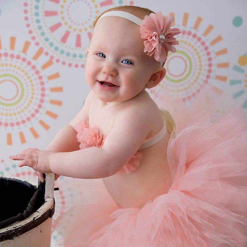 Fancy Frills Tutu 3 Piece Set with Couture Tutu Headband and Matching Modesty Sash Tutu Top Newborn Photography Props TS066