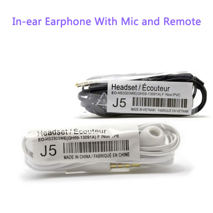 High Quality 3.5mm In-ear Earphone earbuds stereo earphones with Mic for samsung galaxy S4 J5 Iphone Sony Xiaomi phone