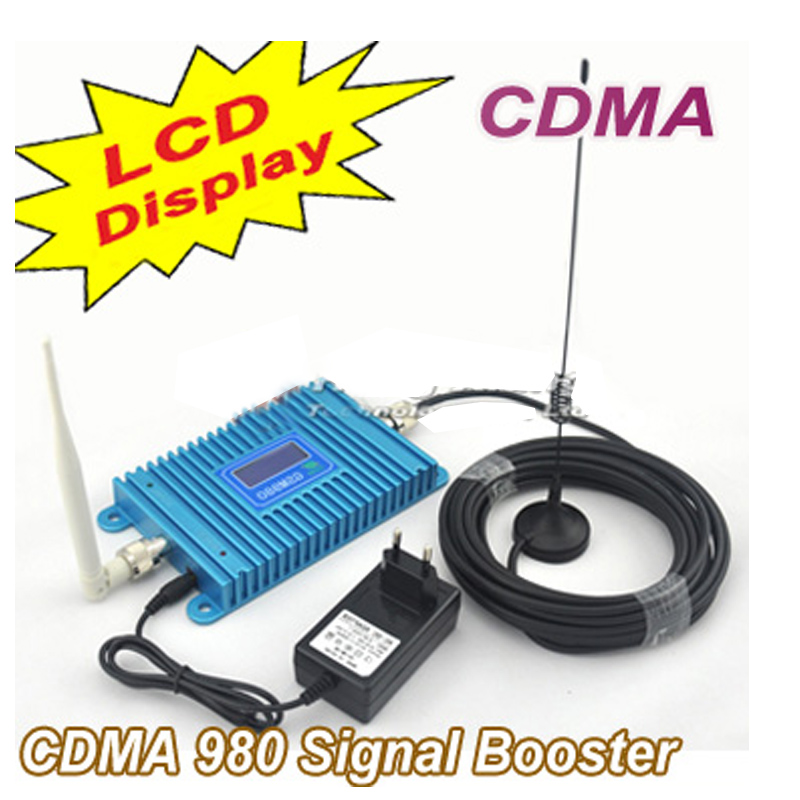 Model CDMA 980 W/ 10M Cable+Antennas,LCD Display Function CDMA 850Mhz Phone Signal Booster 850Mhz CDMA Repeater Signal Amplifier