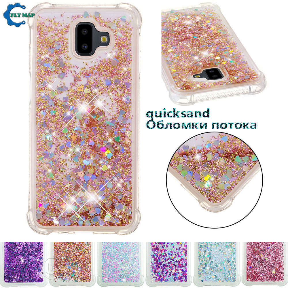 Strong-Willed Glitter Stars Case For Samsung Galaxy J6 Plus J6plus J610f J610fn/ds Sm-j610f Sm-j610fn/ds Liquid Quicksand Soft Tpu Back Cover Fitted Cases Phone Bags & Cases
