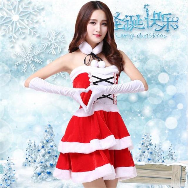 2018 New Christmas Dress Fashion Sexy Elegant Bandage Mini Pompon Dresses  Sweet Christmas Wear Backless Festive Women s Clothing 3e6c5cad8602