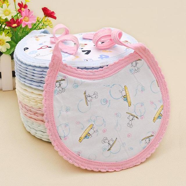 Cotton Baby Boys Girls Kids Bibs Infant Embroidered Saliva Towels Feeding Burp Cloths Lovely Baby Accessories Waterproof Kid Bib