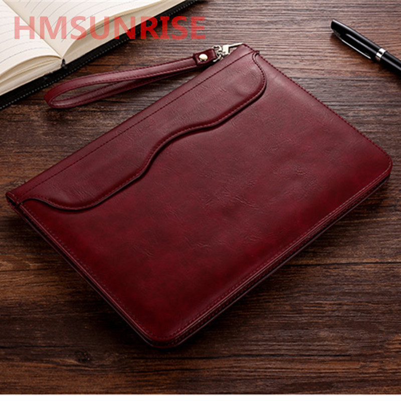 Hmsunrise Leather Case For apple ipad 9.7 inch 2018 Ultra Thin Folio Flip Stand Cover Auto Wake Sleep for ipad A1893 Storage bag