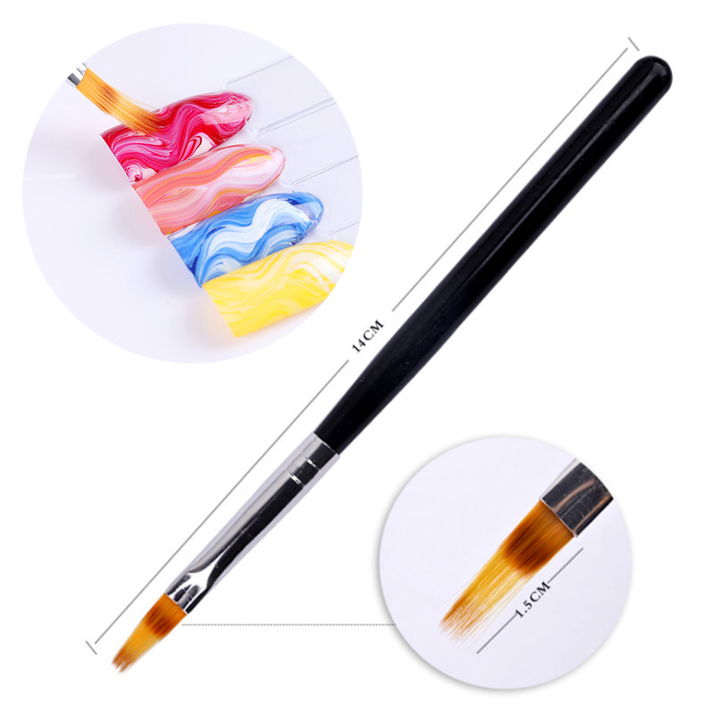 Hot Sale 1Pcs Nail Drawing UV Gel Brush Painting Pen Wooden Handle Manicure Nail Art Tools