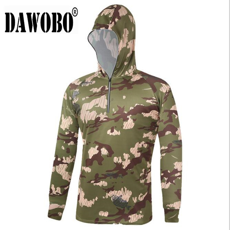 Outdoor Camouflage Fishing Clothing Men Shirts Breathable Quick Dry Jackets New
