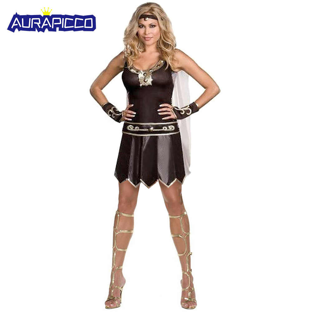 08b168d62 Women s Xena Warrior Princess Costume Ancient Greek Goddess Roman Gladiator  Spartan Ladies Fancy Dress Halloween Costumes