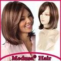 Медуза продукты волос: термостойкие синтетические пастель парик для женщин Средней Длины прямой Mix цвет боб стиль парики Моно SW0010A
