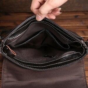 Image 5 - Norbinus hakiki deri çanta erkekler Messenger omuz çantaları dana Crossbody çanta erkekler için iş deri çantalar küçük evrak çantası