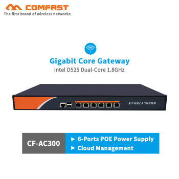 AC300 6-Port Gigabit Core Gateway wifi Router AC Wi fi Project Controller Load Balance QoS PPPoE Server Multi Wan access switch