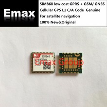 Free Ship 10PCS/LOT SIMCOM SIM868 low cost  GPRS + GSM/ GNSS Cellular GPS L1 C/A Code 100% New Original For satellite navigation