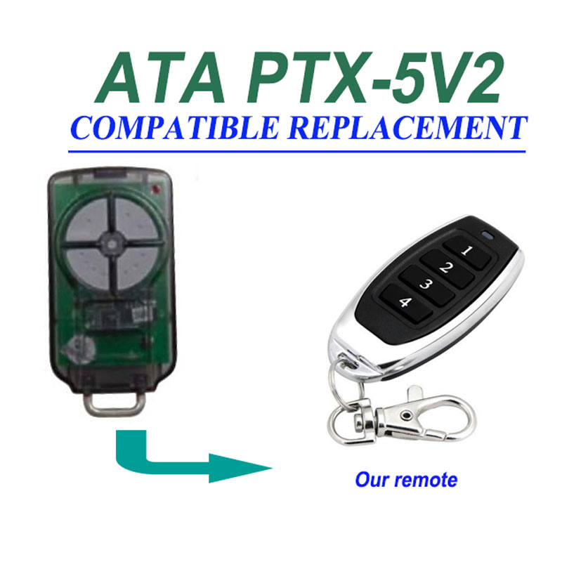 ATA PTX5v2 ptx5v1 compatible Garage Door Triocode Control Transmitter Replacement ...