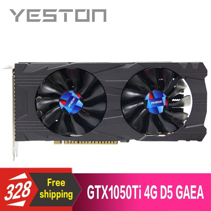 Yeston GeForce GTX 1050 TI 4GB GDDR5 Graphics cards Nvidia pci express x16 3 0 Desktop