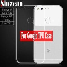 Sinzean 100 個トップ TPU ケース google のピクセル 3XL/ピクセル 4XL/ネクサス 5/ネクサス 6/ ネクサス 6 P/Pixel 2XL TPU ケースソフトシリコンケース