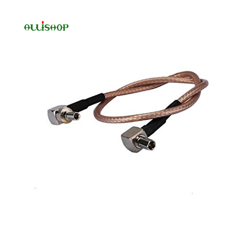 ALLiSHOP 0-6GHz Pigtail adapter cable CRC9 to ts9 RG136 connector for USB surfsticks UMTS and LTE, wifi router, 2G, 3G, 4G
