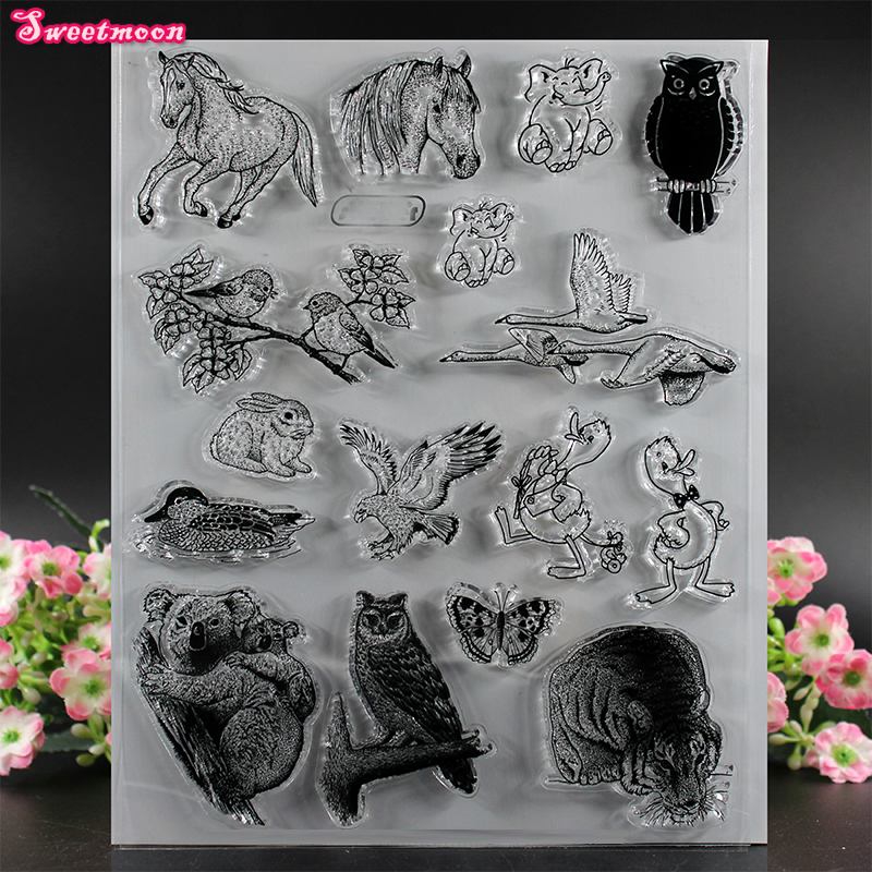Eagles, elephants, koalas, ducks Scrapbook Clear Stamp photo cards account rubber stamp  Embossing Folder card Stamp thank you my friend you are the best scrapbook clear stamp photo cards account rubber stamp embossing folder card stamp