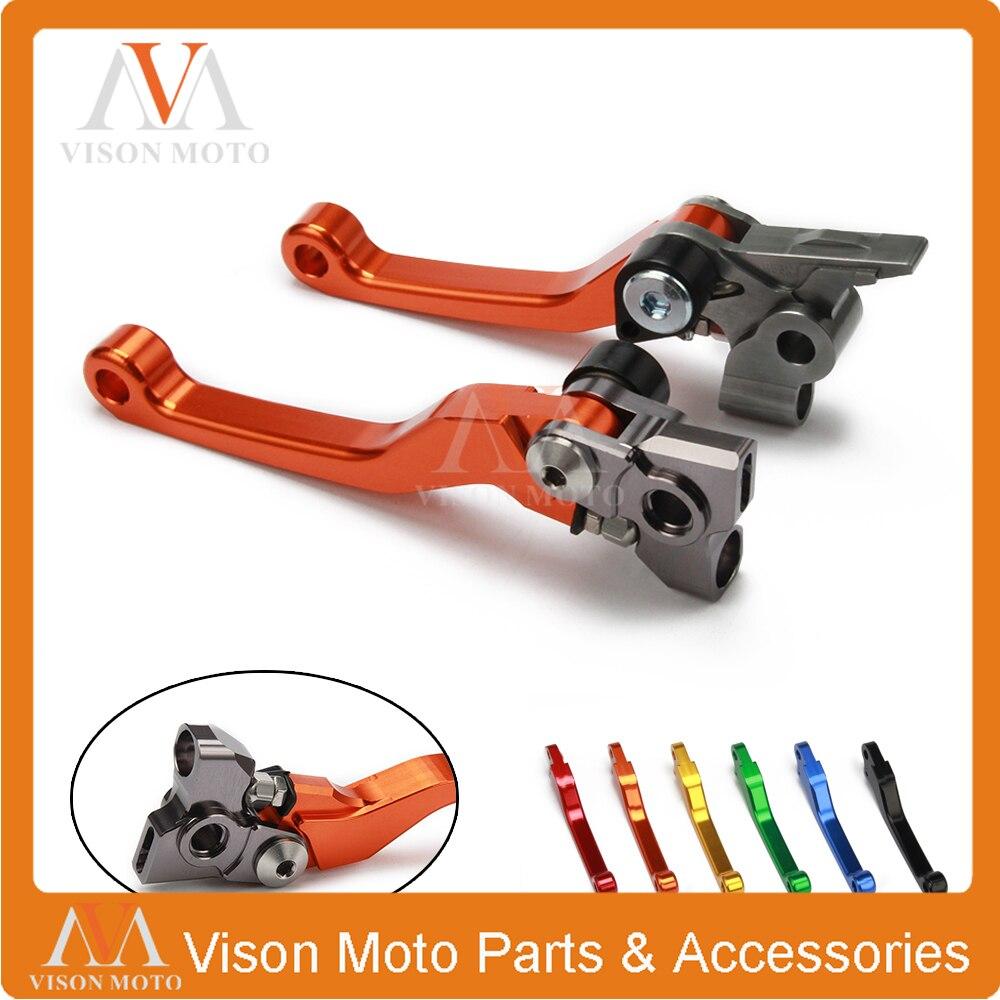 Billet Pivot Brake Clutch Levers For KTM XCW500 EXC500 XC500W EXC 500 SX XC SXR SXF XCW EXC XCRW 125 150 200 250 300 350 450 500 one pair top quality cnc pivot brake clutch levers for yamaha kawasaki honda ktm exc exc r xc xc w xc f sx 300 505 400 450 530
