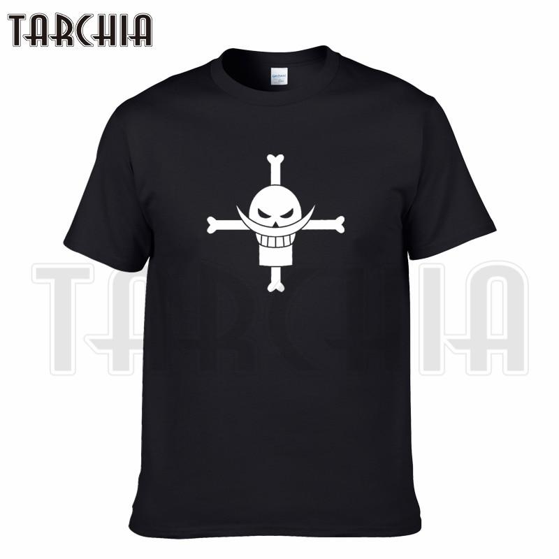 TARCHIA 2018 new brand t-shirt cotton tops tees men white mustache sea robber gang short sleeve boy casual homme tshirt t plus