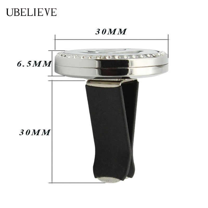 Горячее Дерево жизни серебро 30 мм ароматизатор для салона автомобиля ожерелье круглый магнит эфирное масло автомобильный вентиляционный зажим с 6 шт. войлочные прокладки
