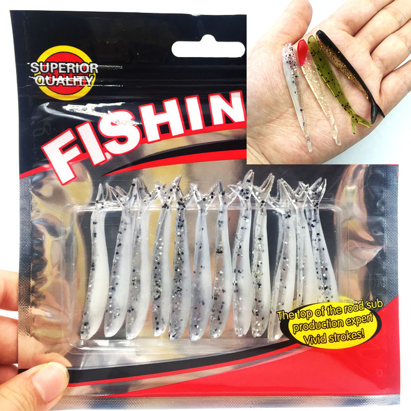 YTQHXY 12pcs/lot 64mm/1.27g Soft Lures Artificial Loach Fishing Bait Fishing Worm Fishing Tackle Fishing Lures Swimbait YE-186 ytqhxy 2pcs lot 12 5g 13cm soft bait fishing lure shad silicone bass flexible minnow bait swimbait plastic lures pasca ye 120