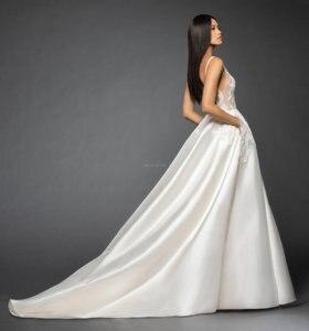 Image 3 - А линия вечерные платья с кружевами и аппликациями свадебные платья с карманами 2019 двойной V шеи корт поезд Свадебные платья, платья невесты Бесплатная доставка