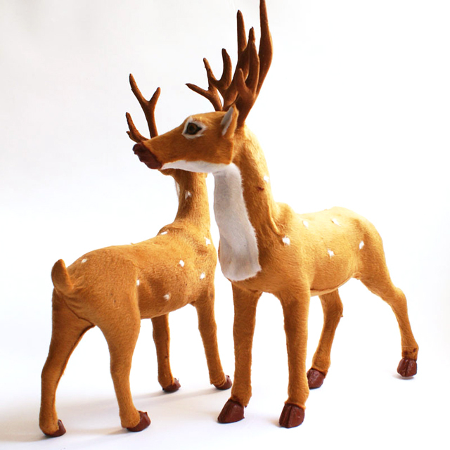 christmas artificial reindeer decoration new year santa claus indoor outdoor decorations ornament enfeites de natal shb243 on aliexpresscom alibaba group - Indoor Christmas Reindeer Decorations