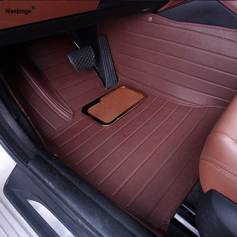 Custom car floor mats for BMW all models e30 e34 e36 e39 e46 e60 e90 f10 f30 x3 x5 x6 car accessories auto styling floor mat floor