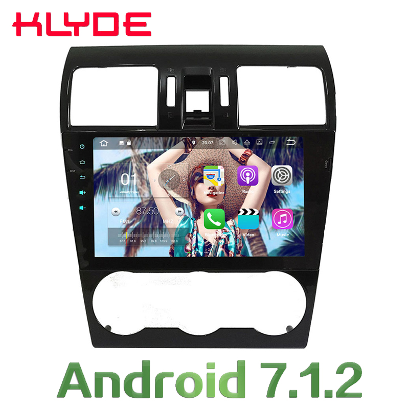 KLYDE 2GB RAM 9'' Android 7.1.2 Car Multimedia Player Radio Quad Core 4G Wifi SWC DAB+RDS For Subaru Forester WRX XV 2013-2017 2gb ram 9 android 7 1 2 quad core 4g wifi swc dab rds car multimedia player radio stereo for subaru forester wrx xv 2013 2017