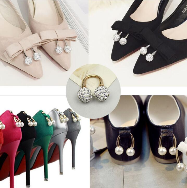 wholesale price half off hot sale online US $8.3 32% OFF|Free shipping 1 pair fashion diamond ball pearl shoe buckle  shoes decorative accessories. 1.4 cm-in Shoe Decorations from Shoes on ...