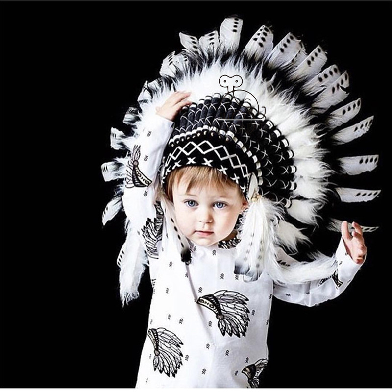 INS Wind Indian Feather Headgear Party Decoration Photo Props Entertainment Place Decoration Apparel Accessories