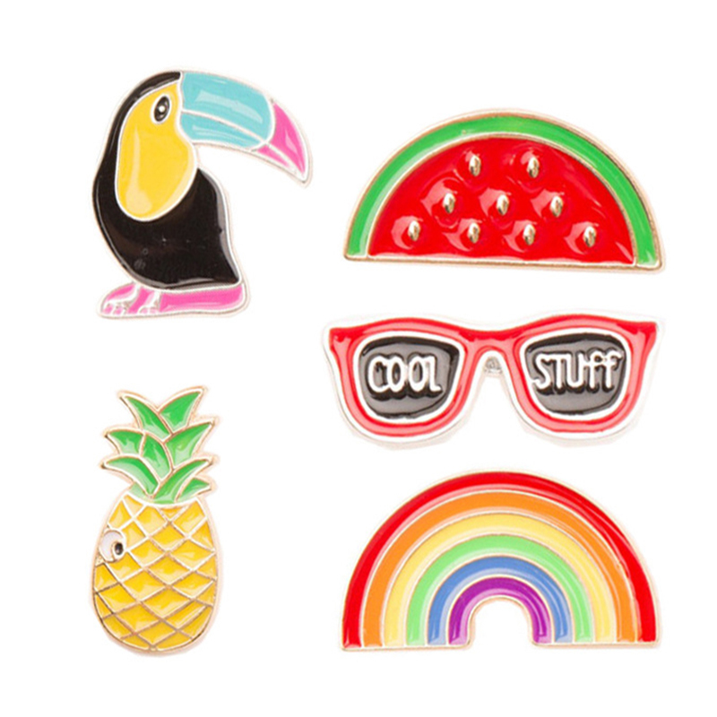 2017 New 1 Set Cartoon Metal Pin Badge Clothes Badges Backpack Beautify Icons Package Icon Clothing