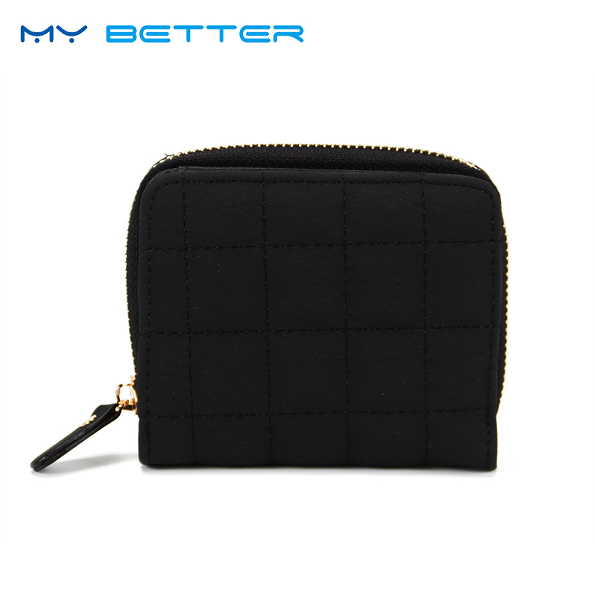 New Fashion Women Purse Card Holder Women Small Wallet Zipper Clutch Short Coin Card Coin Purse Female Wallets Bag