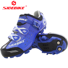 SIDEBIKE Mountain Bike Mens Self locking Cycling Shoes Antiskid Zapatos MTB Ciclismo De Ruta Blue Sneakers