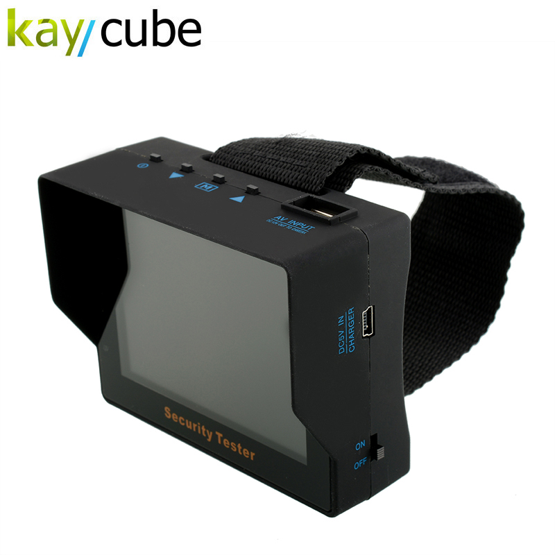kaycube Wristband Portable 3.5 TFT LCD CCTV Security Video Camera Tester Test Monitor Built-in 2200mAh Lithium battery PAL/NTSC 3 5 inch tft led audio video security tester cctv camera monitor
