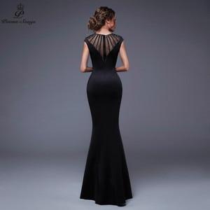 Image 2 - Poems Songs2019 Backless O neck Evening Slit Side Open Prom Formal Party dress vestido de festa Elegant Vintage robe longue