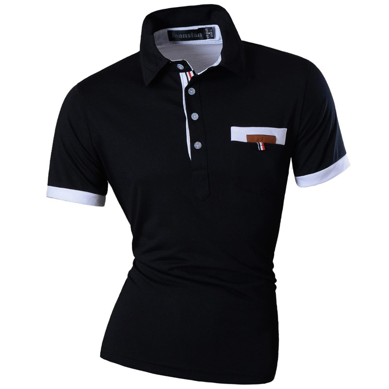 New 2019 Mens Summer Fashion Casual   Polo   Shirt Designed Short Sleeves Shirt Slim Fit Trend Solid color 4 Colors S M L XL U012