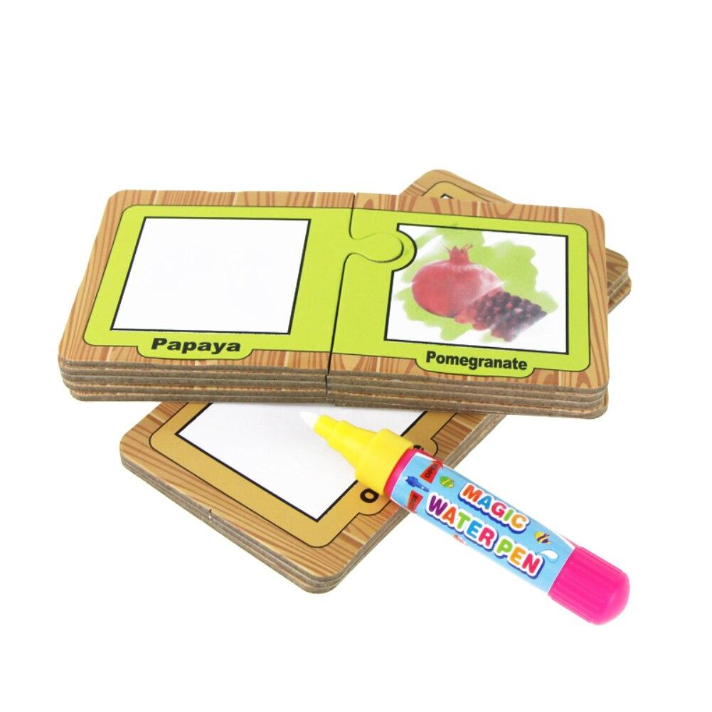 8 шт. акварель картон + 1 Волшебное перо Детские Малыш образования граффити игрушка