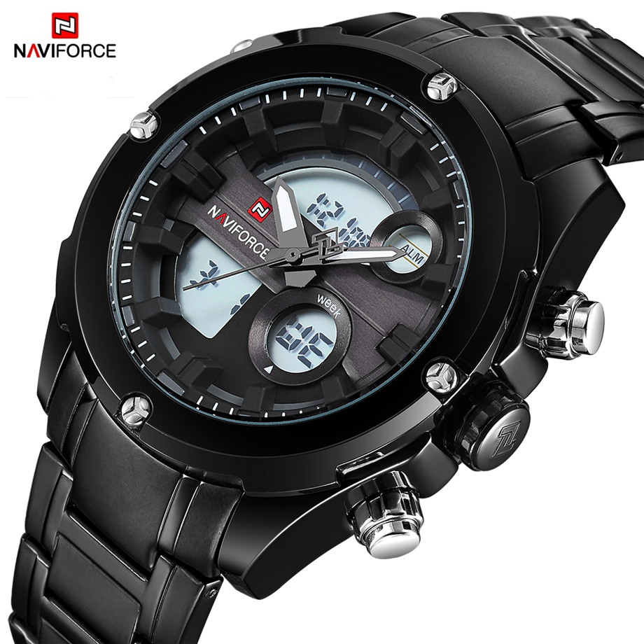 NAVIFORCE Top Luxury Brand Men Watch Mens Quartz Sport Watches Wristwatch Army Military Waterproof Male Clock Relogio Masculino jedir brand luxury watch men army military leather watches male sport waterproof watches business chronograph quartz wristwatch