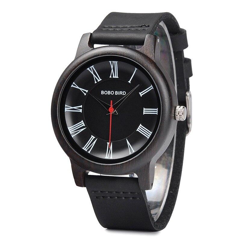 29412c286d7c BOBO BIRD cuero madera relojes mujer cuarzo analógico reloj de los hombres  Casual reloj de reloj