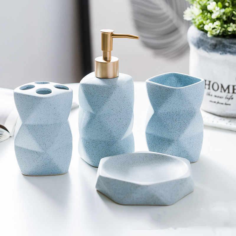 Zestawy upominkowe akcesoria do kąpieli proste ceramiczne zestaw kosmetyków cztery lub pięć zestawów Nordic łazienka dozownik mydelniczki